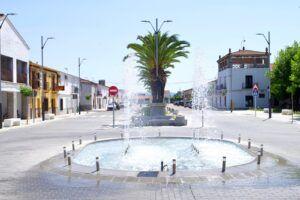 La nueva fuente en la plaza